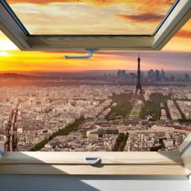 Fototapete, Fereastră cu vedere la Turnul Eiffel