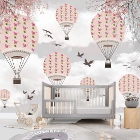 Fototapete Pentru Copii, Baloane frumoase în cerul