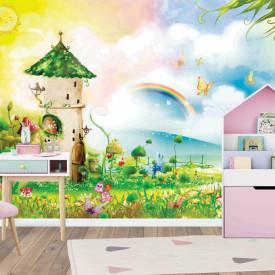 Fototapete Pentru Copii, O casă din basmul pe un fond de peisaj