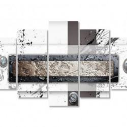 Multicanvas, Abstracție maro.