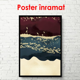 Poster, Abstracție frumoasă cu pești și păsări 2