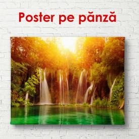 Poster, Cascada frumoasă în lumina soarelui