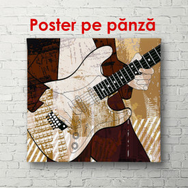 Poster, Chitară în mâinile unui muzician