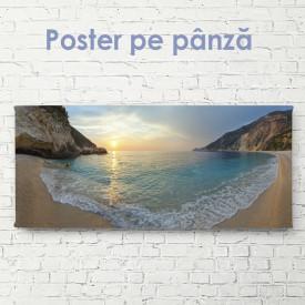 Poster, Coasta mării la apus de soare