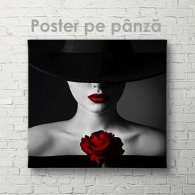 Poster, Doamnă cu trandafir