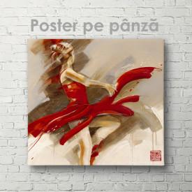 Poster,Doamna în roșu