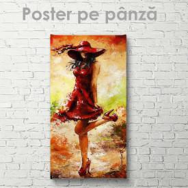 Poster, Fată în rochie de vară