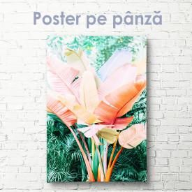 Poster, Frunze de palmier roz