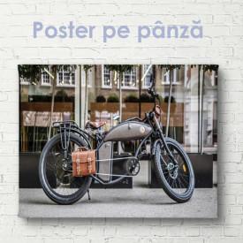 Poster, Motocicletă cu geantă de piele