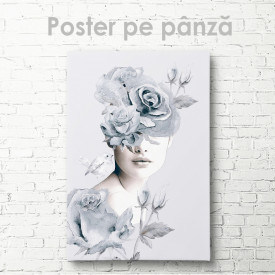 Poster, O coroană de flori albastre delicate