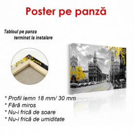 Poster, Oraș antic cu frunze galbene