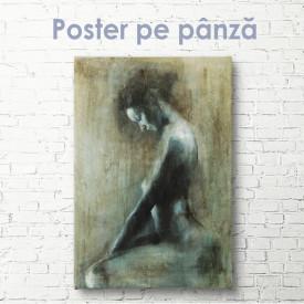 Poster, Pictură în ulei a unei fete