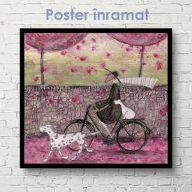 Poster, Plimbare de primăvară prin oraș