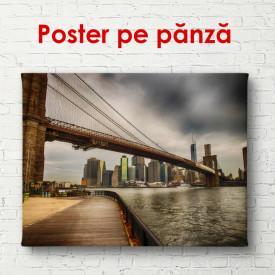 Poster, Plimbarea de-a lungul oceanului pe podul Brooklyn