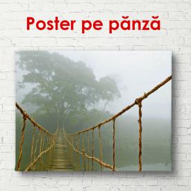 Poster, Podul de lemn de-a lungul pădurii de ceață