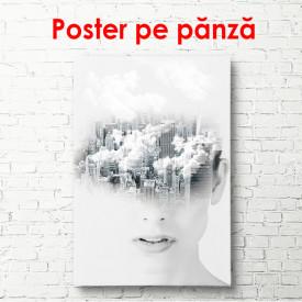 Poster, Portret abstract al unei fete