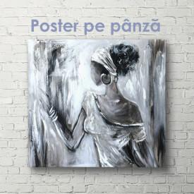 Poster, Portretul unei fete în nuanțe reci