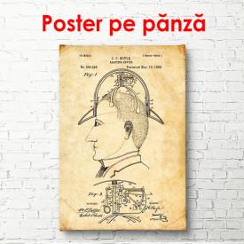 Poster, Profilul unui bărbat