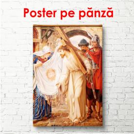 Poster, Purtând crucea