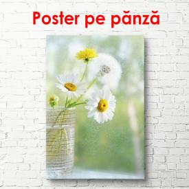 Poster, Un muşeţel într-o vază pe masă