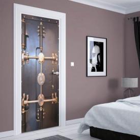 Stickere 3D pentru uși, Seiful sigur, 1 foaie de 80 x 200 cm