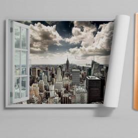 Stickere pentru pereți, Fereastra cu vedere spre un oraș aglomerat