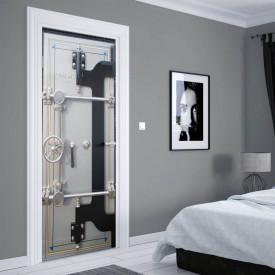 Stickerele decorative, pentru uși, Securitatea puternică, 1 foaie de 80 x 200 cm