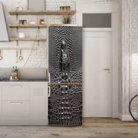 Stickerele decorative, pentru uși, Textura pielii de crocodil cenușiu, 1 foaie de 80 x 200 cm