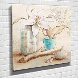 Tablouri Canvas, Oală albastră pe masa