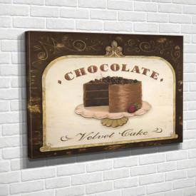 Tablouri Canvas, Tortul de ciocolată pe masa