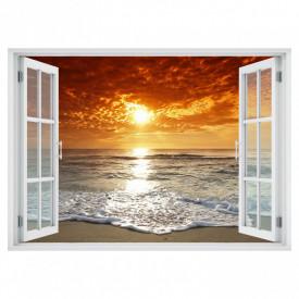 Fereastră falșă, Fereastră cu vederea spre un apus de soare la o mare