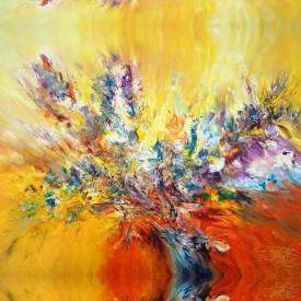Fototapet Abstract, Flori în vază