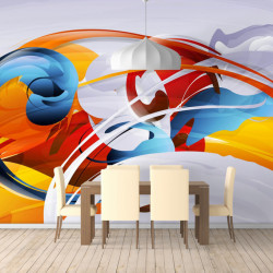 Fototapet Abstract, Lupta Culorilor
