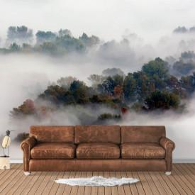 Fototapet, Ceață peste dealuri