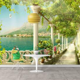 Fototapet Fresco, Fototapete cu o vedere minunată la balcon