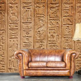 Fototapet, Hieroglife egiptene pe perete