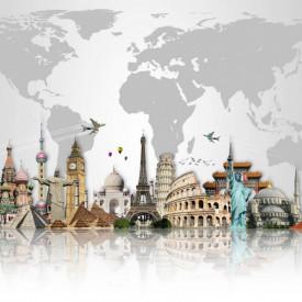 Fototapet Orase, Călătorie în jurul lumii