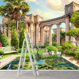 Fototapet, Parc cu vedere spre coloanele romane