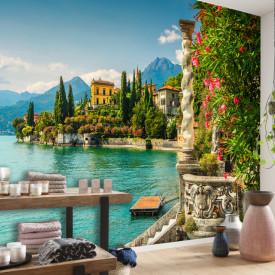 Fototapet, Priveliște minunată spre lac