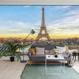 Fototapet, Turnul Eiffel într-o zi însorită