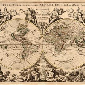 Fototapet, Vechea hartă a lumii