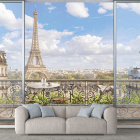 Fototapet, Vedere superbă spre Turnul Eiffel