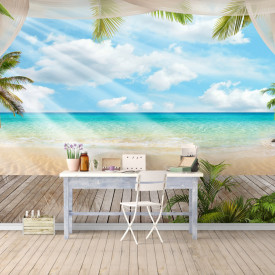 Fototapete 3D, Paradisului de ziua pe plajă