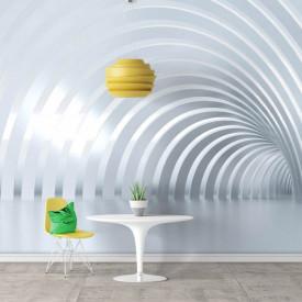Fototapete 3D, Tunel albastru pal cu arcade