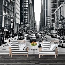 Fototapete Alb-Negru, Străzile Americii în culorile alb-negru