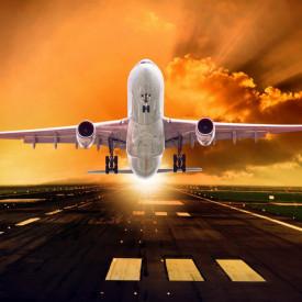 Fototapete, Avion ce iși ia zborul