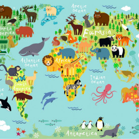 Fototapete, Harta animalelor