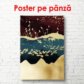 Poster, Abstracție frumoasă cu pești și păsări