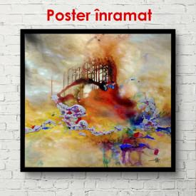 Poster, Acuarelă fantezie galbenă