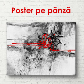 Poster, Fantezie în roșu și gri